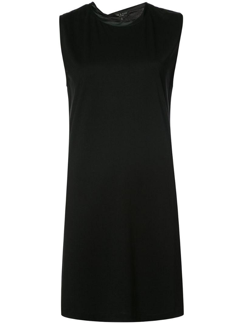 Купить Платье шифт без рукавов Rag & Bone, Чёрный, Шёлк, Лиоцелл, Хлопок, Aw17