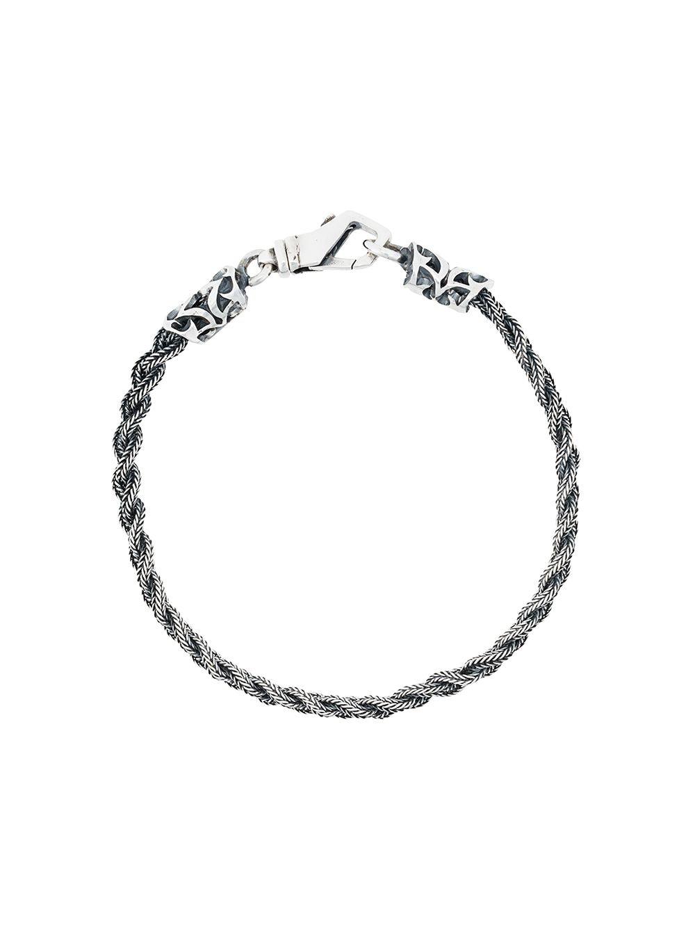 Bracelet gravé en argent - Emanuele Bicocchi - Modalova